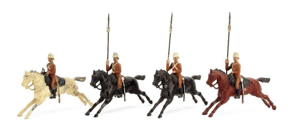 Britains sets 94 The 21st Lancers, 4 pieces in Omdurman