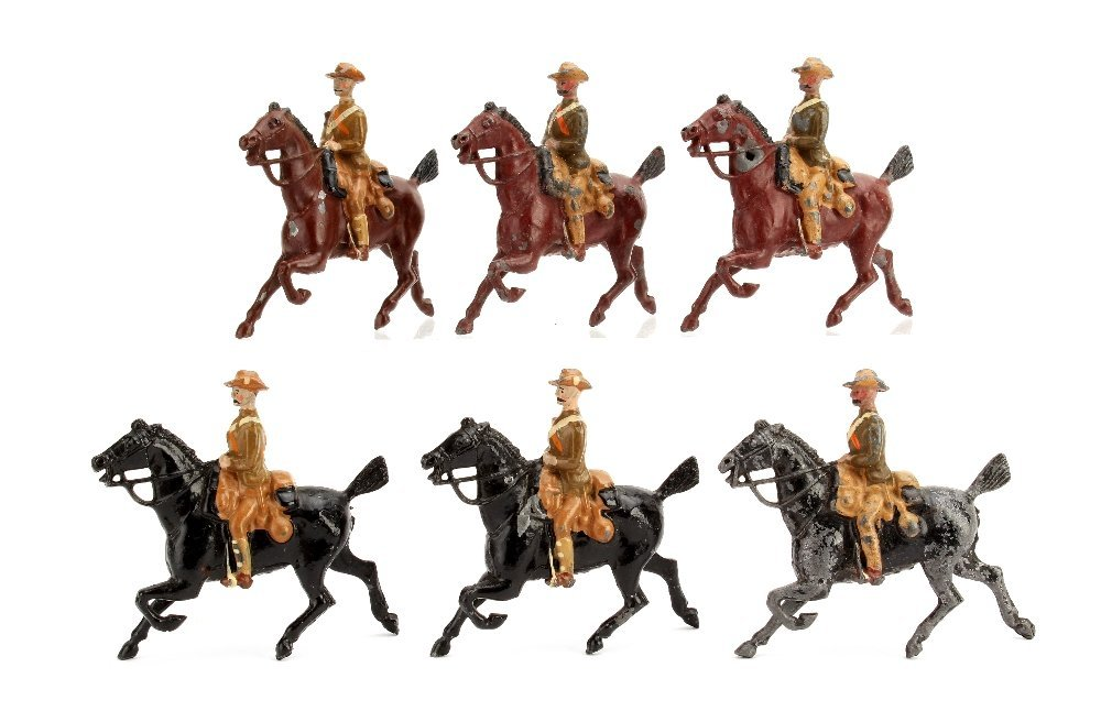 Britains City Imperial Yeomanry from set 105, horses