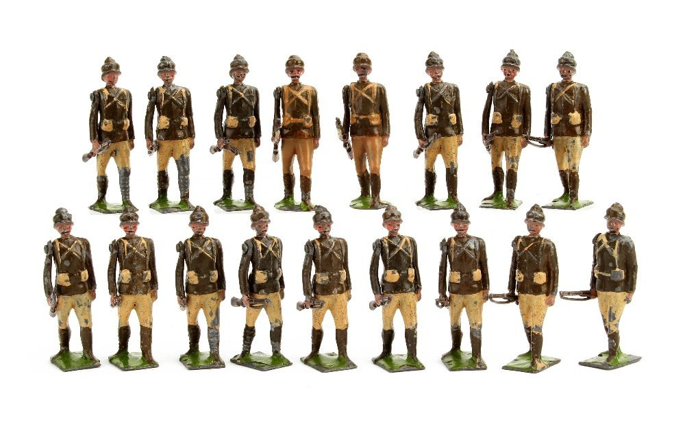 Britains Dublin Fusiliers from set 109, (27 including 2