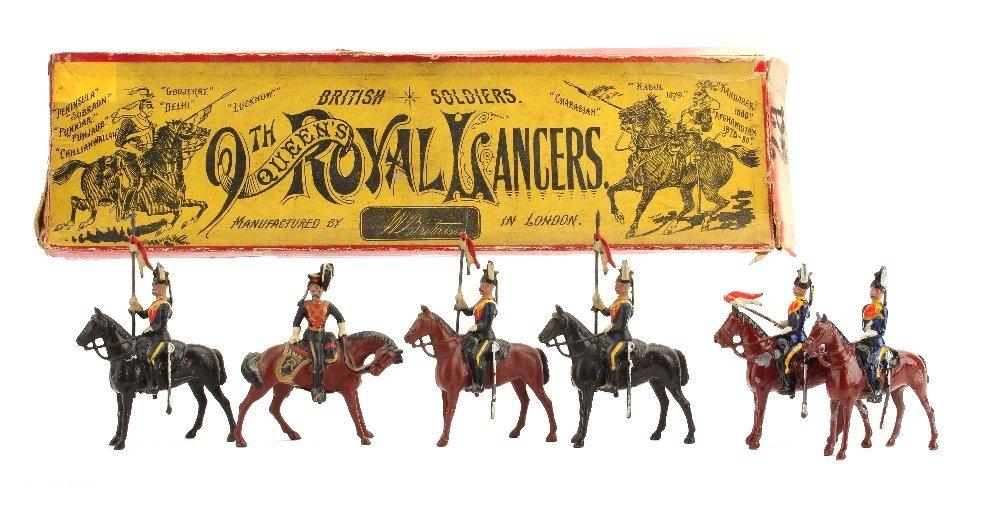 Britains set 24 The 9th Queen's Royal Lancers, 4 pieces