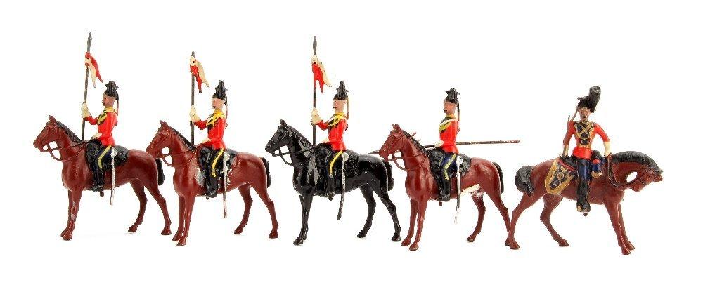 Britains Lancers from set 16, 1903 version, P-G (9