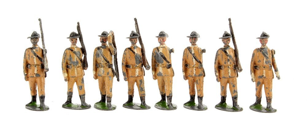 Britains Boer Infantry set 26, P-F (8) paint possibly