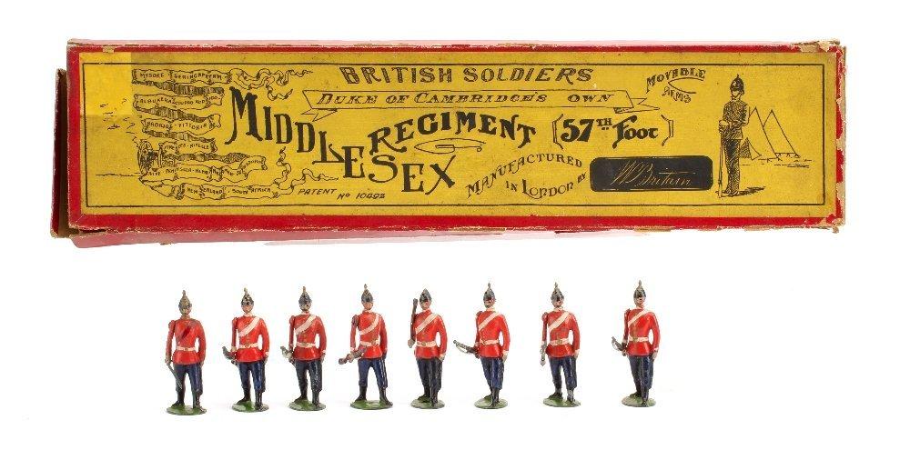 Britains set 76 Middlesex Regiment, wasp waisted