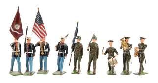Britains set 9482 US Marines Colour Party part set