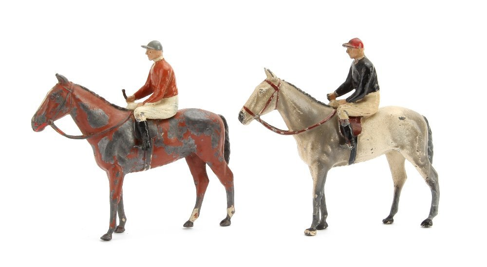 Britains Racing Colours, 1 whip missing, brown horse