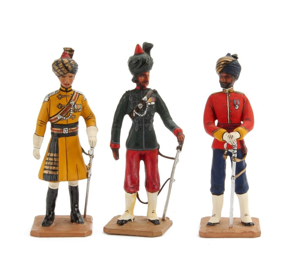 Greenwood & Ball Indian Army figures in Dress uniform,