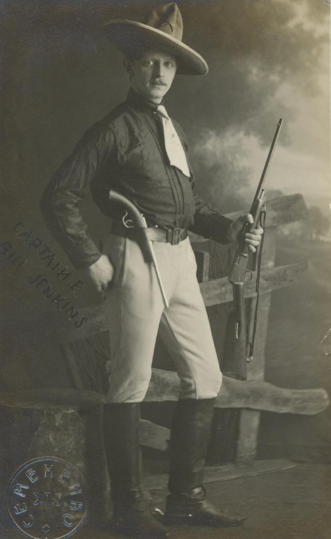 Rare Antique PC Photo Cap. E. Bell Jenkins, 1890s
