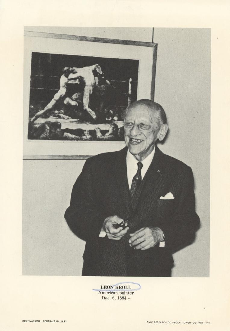 LEON KROLL International Portrait Gallery Print, 1968