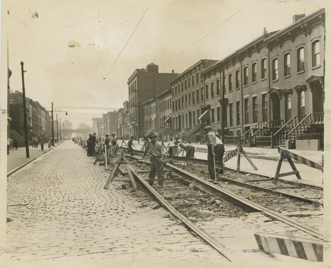 CAR TRACK REMOVAL WASHINGTON AVE, Brooklyn 1942