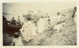 Antique Early Photo  Korea Fishermen