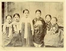 Antique Early Photo Korea Girls Kids