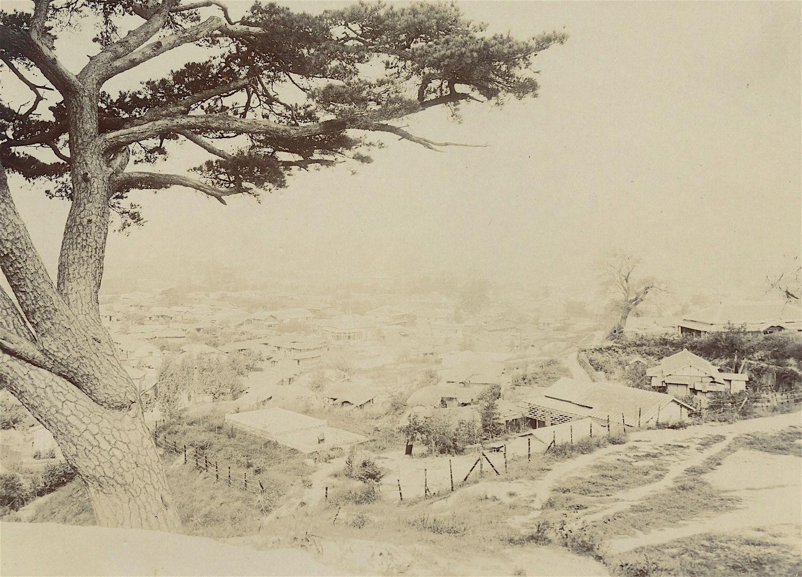 Antique Early Photo View Seoul Korea