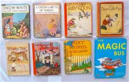 Group of Eight Antique  Vintage Children Books