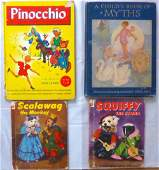 Group of Four Antique / Vintage Children Books