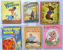 Group of Six Antique / Vintage Children Books