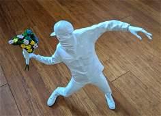 Banksy Flower Bomber MEDICOM Statue Sculpture