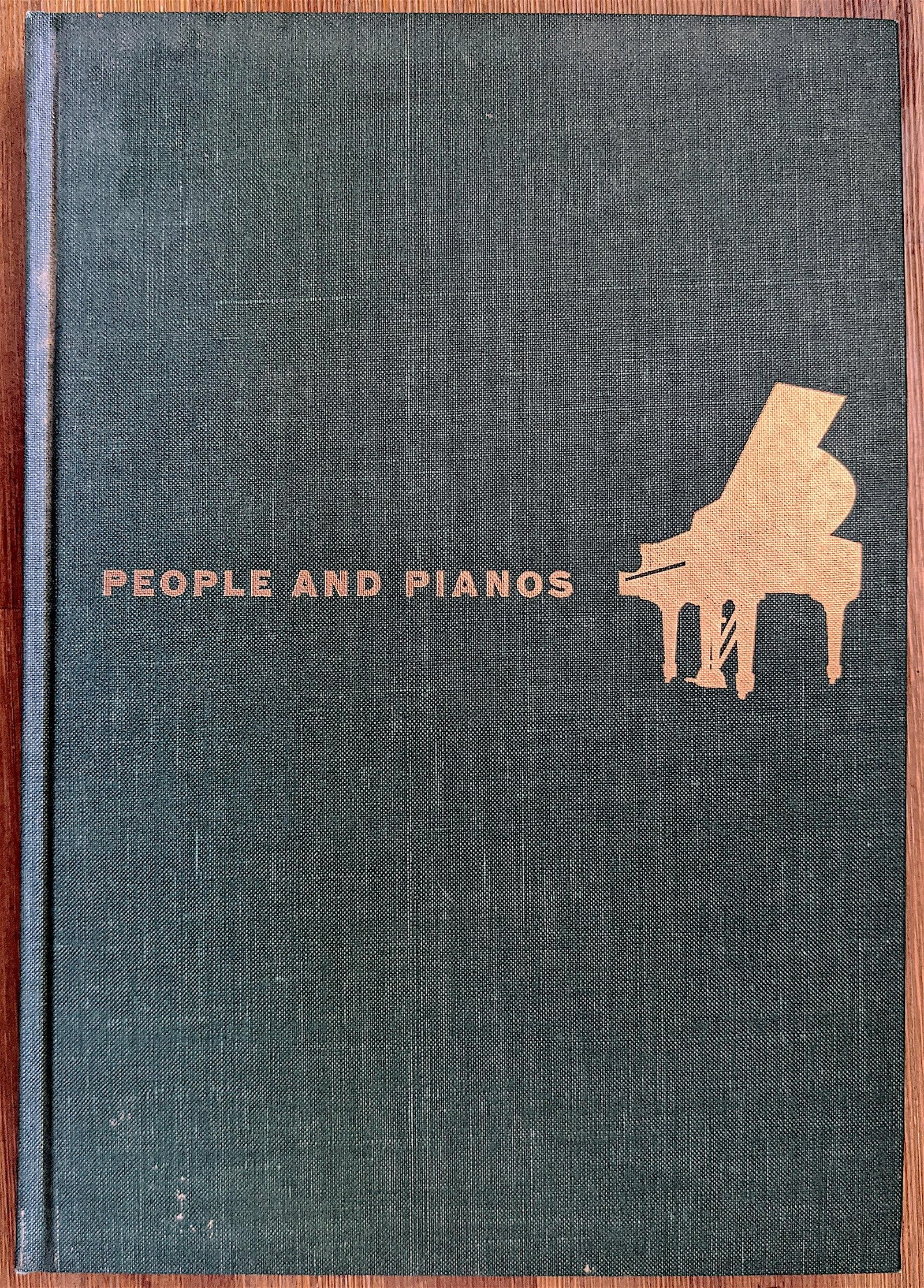 Book People and Pianos by Theodore E. Steinway, Signed
