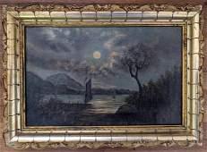 Antique American Oil, Hudson River School, 19th C