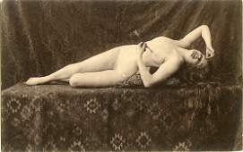 Antique Postcard French Pin Up Nude Female
