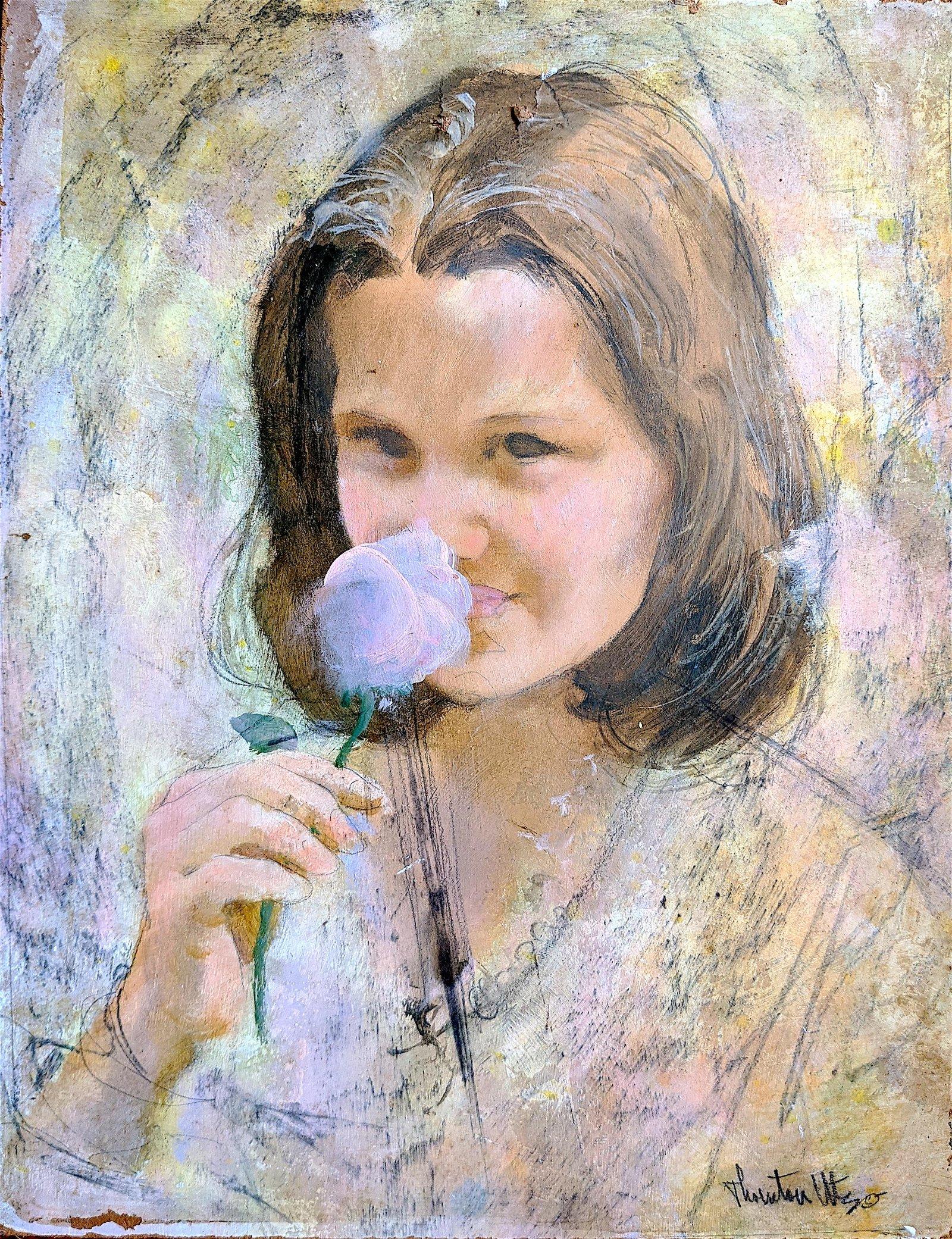Original THORTON UTZ Illustration Art Portrait Girl