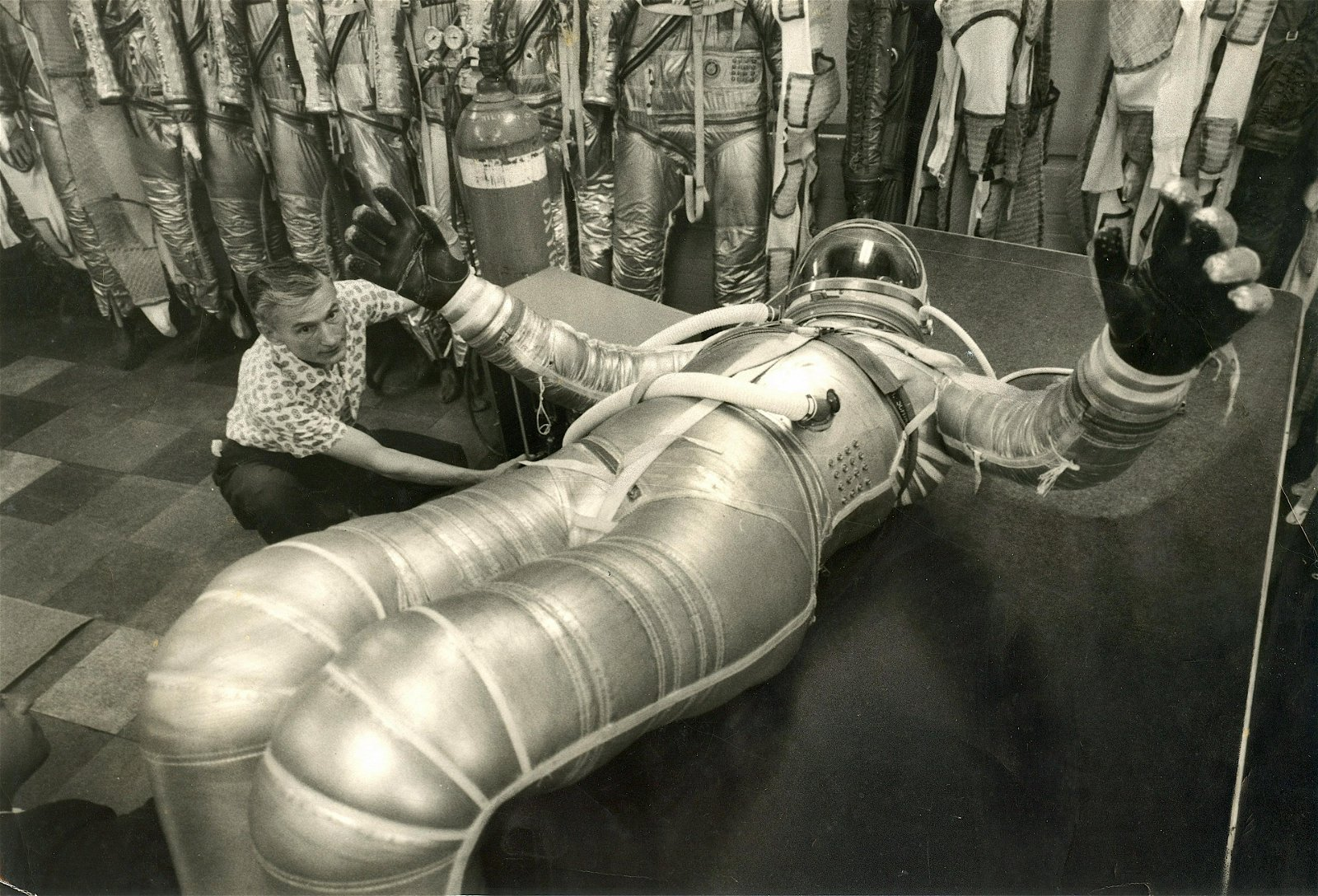 Vintage Rare Photo Space Astronauts Speculation 1950s