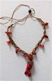 Beautiful Unique Red Coral Necklace Pre Columbian