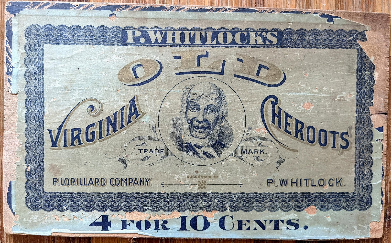 Vintage African America Cigar Box Advertising Top
