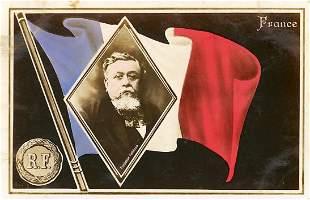 Antique / Vintage Postcard President Fallieres