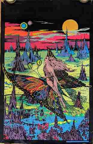 Vintage Black Light Poster Stellamyr, 1974