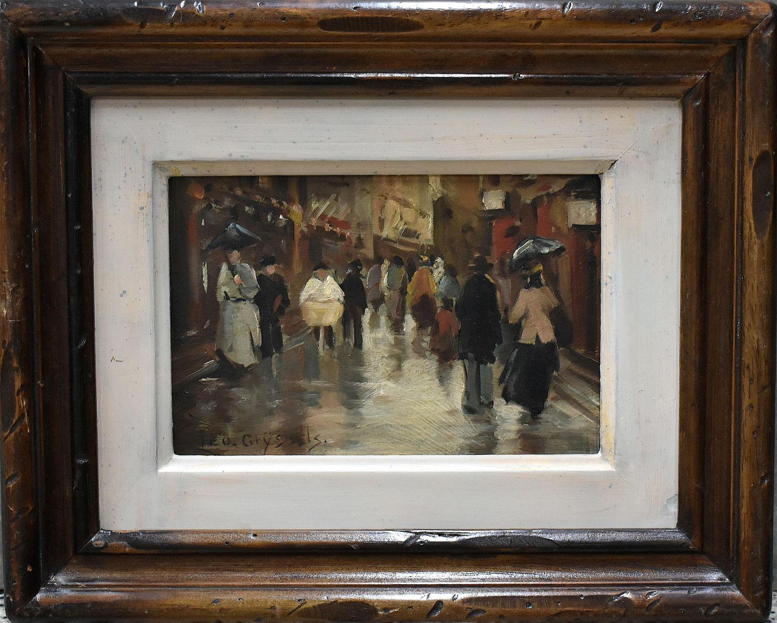 Leo Grijseels (1884-1966) Street in The Hague Oil Board