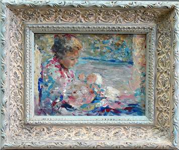 Margaret Fisher Prout (1875-1963) Mother and Baby Oil