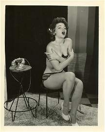 Vintage Scarce Pin Up Gelatin Photograph Nude 1950s