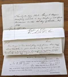 American Civil War Documents George Higgins, 1862