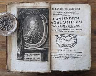 Antique Book Medical Book HEISTER LAURENCE Anatomy,