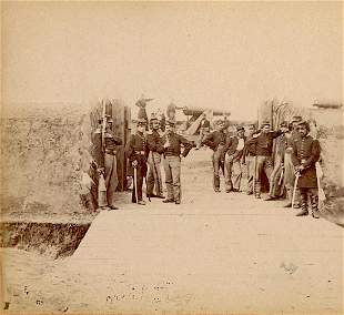 Antique Real Photo Civil War Stereoview Sally-Port