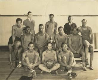Vintage Photo American Basketball Team 1930s