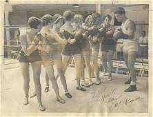 Vintage Rare Historical Photo Boxing Girls, 1932