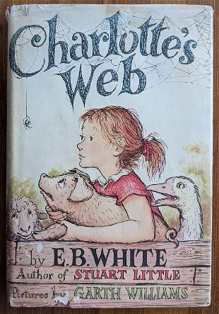 Vintage Book CHARLOTTE'S WEB by E. B. White, 1952