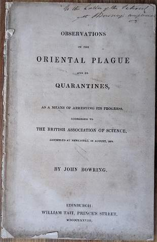 Observations On The oriental Plague And On Quarantines,