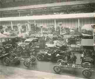 Antique Vintage Rare Photo Car Racing Exhibition 1909