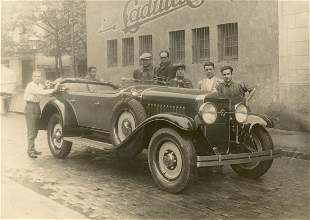 Antique Vintage Rare Photo Car Cadillac La Salle, Paris