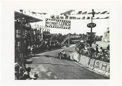 Car Racing Rare Photo Lithograph Targa Florio, 1933