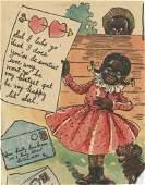 Rare Antique Black Americana Print, 1900s
