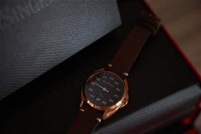 Meistersinger Metris Bronze Automatic Watch, 38mm,