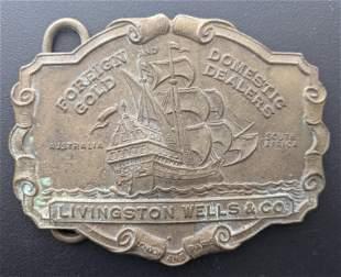 Vintage Tiffany N. Y. Livingston Wells & Co. Belt