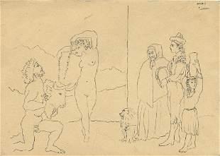 Vintage Postcard Unusual Rare Erotic Picasso