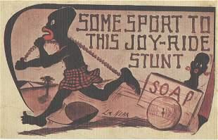 Vintage Postcard Unusual Rare Black Americana