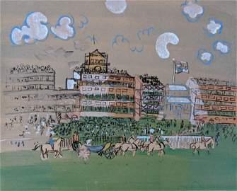 RAOUL DUFY (Attrib.) Original Gouache Painting