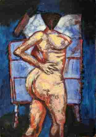 CESAR LEAL JIMENEZ Original Acrylic On Paper, 1985