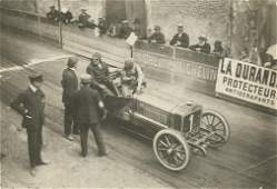 Vintage Rare Photo Car Racing Gordon Bennett, 1905